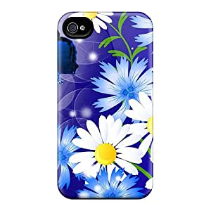 (VSJ4471QWoj)durable Protection Case Cover For Iphone 4/4s(adoration Of Blues)