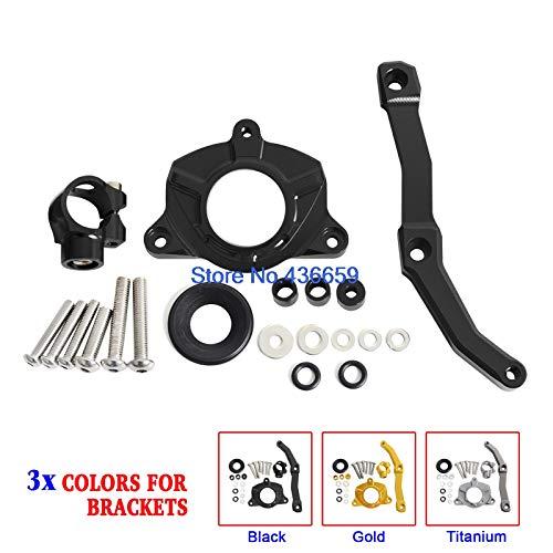 Iris-Shop - CNC Steering Damper Mounting Bracket Kit For Kawasaki Z1000 2010 2011 2012 2013 Z 1000 10 11 12 13