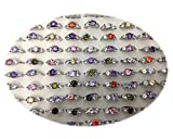 Fashion Wholesale Lots 500pcs Colorful Rhinestone Ring for Women Girl Gift (Colorful)