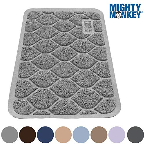 MIGHTY MONKEY Premium Cat Litter Trapping Mats, Phthalate Free, Best Scatter Control, Jumbo XL Sizes (24