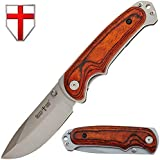 Camping Knife Pocket EDC Boy Scout Knives Wood Handle – Best for Camping Hiking Travel – Grand Way 12
