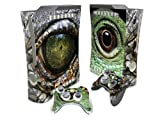 Eye of Lizard Vinyl Decal Protective Sticker Skin Cover for Microsoft Xbox 360 Console and 2 Controllers