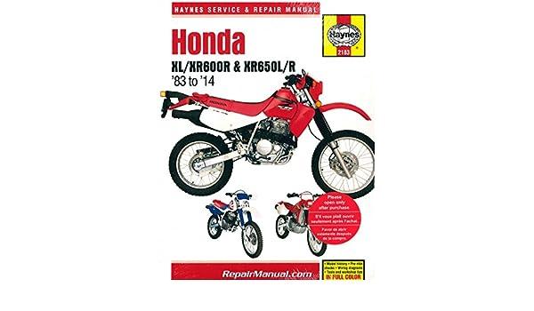 2007 xr650l service manual