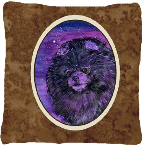 UPC 615872505159, Caroline's Treasures SS8501PW1414 Starry Night Pomeranian Decorative Canvas Fabric Pillow, Large, Multicolor