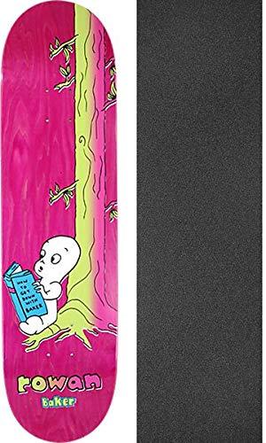宝石腐ったお風呂Baker Skateboards Rowan Zorilla Melodies スケートボードデッキ - 8.25インチ x 31.875インチ ブラックマジックグリップテープ付き - 2点セット