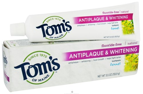 Том Мэн фенхель, татарин управления отбеливающая зубная паста (6x5.5 Oz)