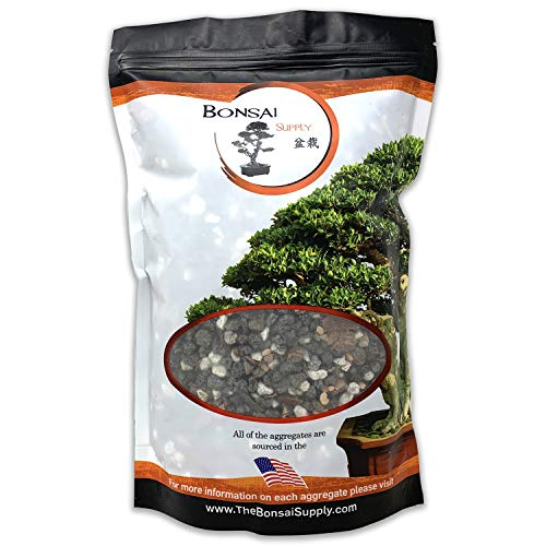 Bonsai Soil All Purpose Mix | Fast Draining Pre Blend (2 Quart Bag) Plant | Pumice, Lava, Calcined Clay and Pine Bark ● Potting Pre Mixed Bonsai Plant Soil Mixture By The Bonsai Supply