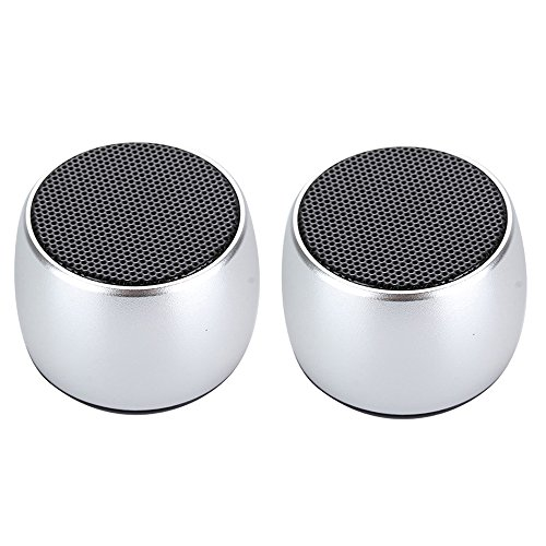 Mini Dual Double Bluetooth Speaker Powerful Portable Room-filling Sound 3W Audio Driver-Remote Selfie TRUE WIRELESS STEREO TECHNOLOGY For iPhone, iPad, iPod, Smartphone, Tablet PC Bluetooth devices by Omier