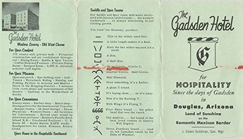Douglas Arizona Gadsden Hotel Brochure Antique J56836 (Brochure Hotel)