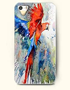 Phone Case For iPhone 5 5S Colorful Parrot - Hard Back Plastic Case / Oil Painting / OOFIT Authentic