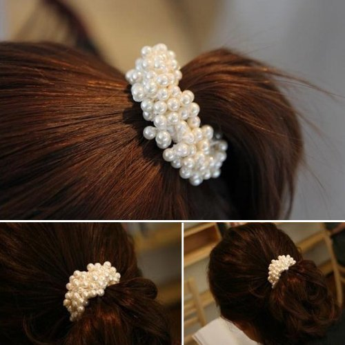 Botrong Fashion Women Pearls Beads Hair Band Rope
