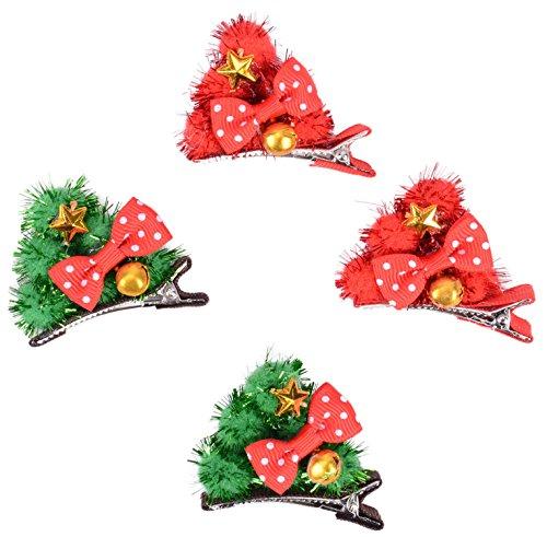 Girls Clips Decorative X mas Bells