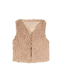 FUNOC Kids Baby Faux Fur WaistCoat Fashion Short Vest Jacket Coat for Girl