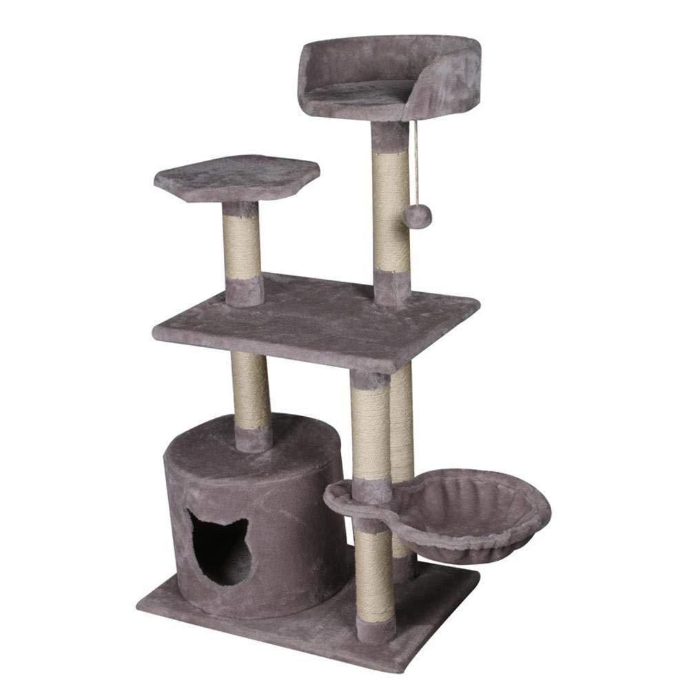 Deluxe Multi Cat Tower Cat Play Towers Cat Litter Cat Cat Scratch Board cat Shelf Cat Platform pet cat Toy 78  63  114cm Plush Wood shavings Plank