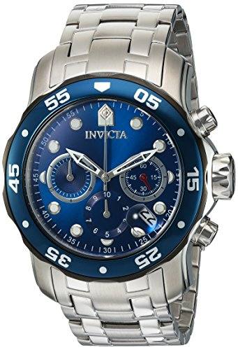 Invicta Men's Pro Diver Quartz Diving Watch with Stainless-Steel Strap, Silver, 19 (Model: 21784)