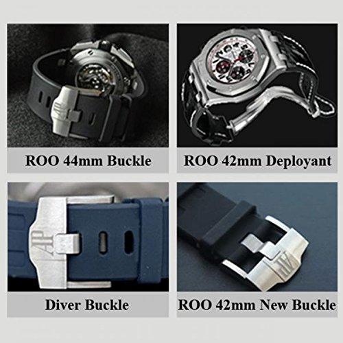 Custom Handmade Premium Calf Leather Watch Band for AP Audemars Piguet Gunny Straps - Panda for AP ROO 42mm Old