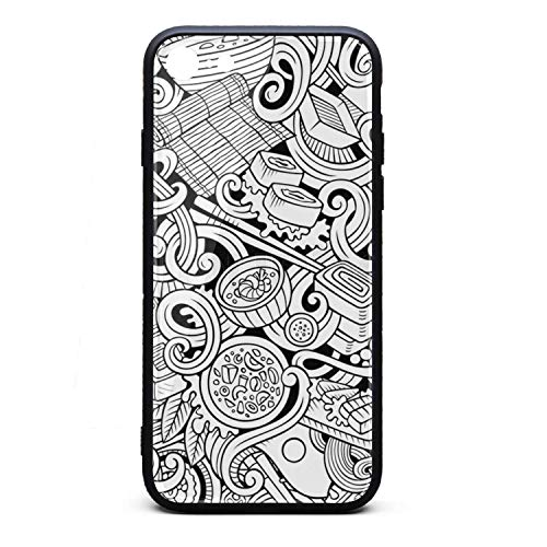 (Sushi roll Sushi Rice Recipe Phone Case for iPhone 7/8 TPU Full Body Protection Cool Anti-Scratch Fashionable Glossy Anti Slip Thin Shockproof Soft Case)