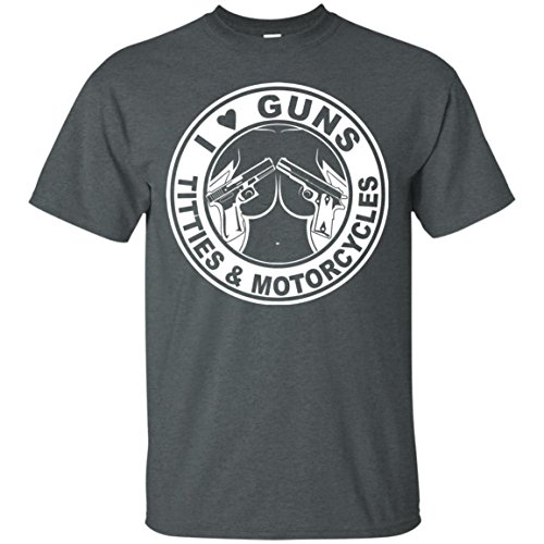 KeyVic I Love Guns Titties & Motorcycles T-Shirt by KeyVic (Image #1)