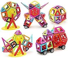 166pcs 3d Magnetic Building Tiles Sets Block Kids Construction Educational Toy
