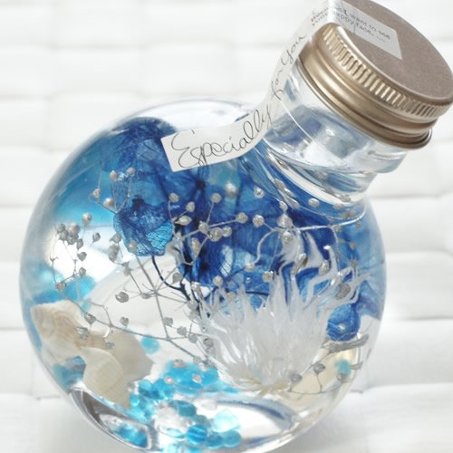 プリザーブドフラワーカフェハーバリウム 丸ボトル
