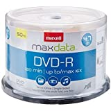 Maxell 638011 DVD Recordable Media -DVD-R -16x -4.70 GB -50 Pack Spindle -120mm