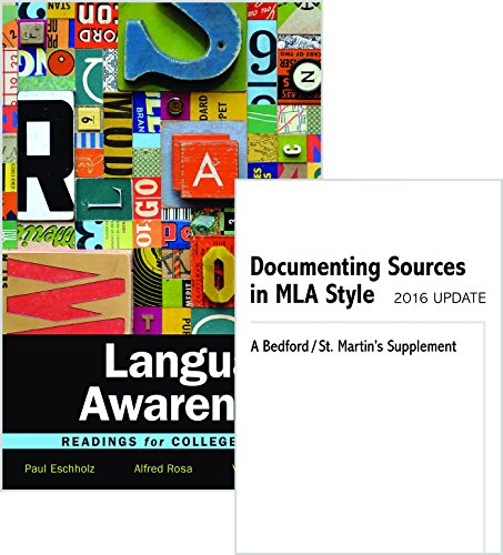 Language Awareness 12e & Documenting Sources in MLA Style: 2016 Update by Bedford/St. Martin's