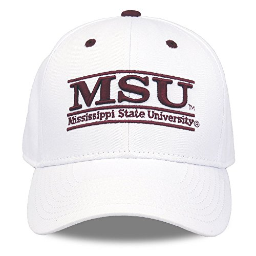 NCAA Mississippi State Bulldogs Unisex NCAA The Game bar Design Hat, White, Adjustable ()