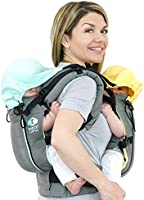 Breathable Mesh and TwinGo Air Baby Carrier Separates to 2 Single Carriers
