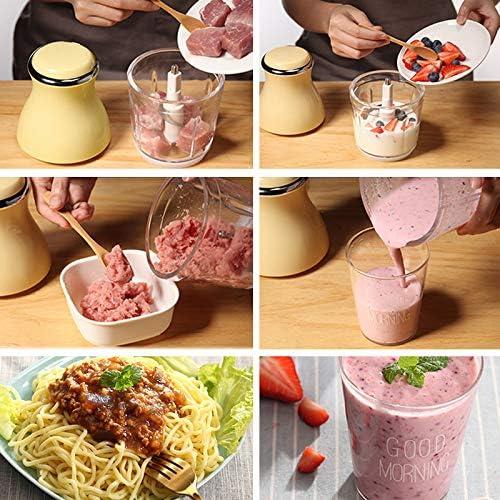 Elektrische Hakmolen (200w), Blender, Vleesmolen, Keuken Keukenmachine, Mini Mixer, Met 3 Scherpe Messen Voor Vlees, Groenten, Fruit