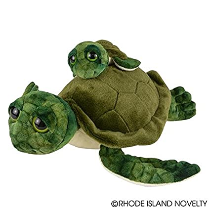 Amazon Com Adventure Planet Birth Of Life Sea Turtle And Baby Plush