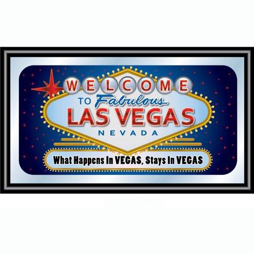 Las Vegas What Happens in Vegas Stays in Vegas Framed Logo Mirror
