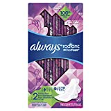 Always Radiant Feminine Pads for Women, Size 2, Heavy Flow Absorbency, with Flexfoam Wings, Light Clean Scent, 26 Count- Pack of 3 (78 Total Count) (Artwork May Vary)