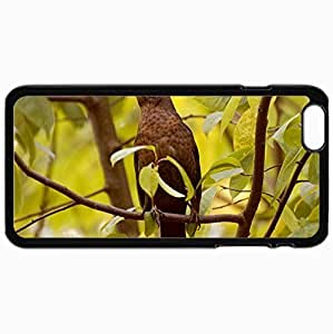 New Fashion Case Customized Cellphone case cover Back Cover For iphone 4s, protective Hardshell case cover Personalized Bird Branches nJzehWFDwy Leaves Waiting Black