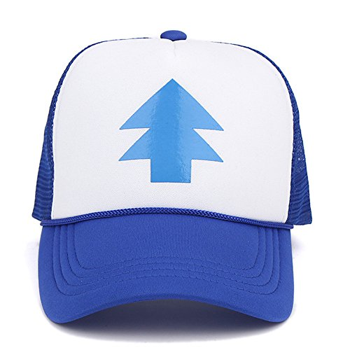 Dipper Gravity Falls Cartoon New Curved Bill Blue Pine Tree Hat Cap Trucker Adjustable Baseball Hat