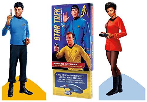 - Original Star Trek Greeting Card Boxed Set - Die Cut Silhouette Cards of Kirk, Spock, Bones, Scotty, Uhura, Sulu, Chekov
