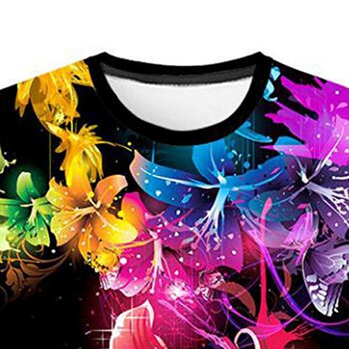 Homme shirt Flood Hommes Courtes Imprimé Tee 3d Shirt Mode Blouse Black Manches Top T gwrgFqxvX