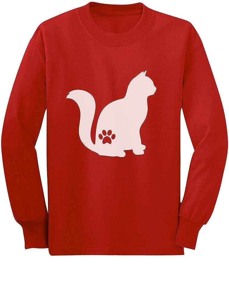 Tstars - Best Gift Idea for Cat Lovers - Cat Paw Youth Kids Long Sleeve T-Shirt GaMP0aZgCm