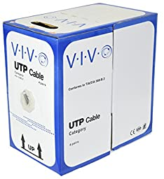 VIVO CABLE-V001 Cat5e Ethernet Cable/Wire UTP Pull Box - 1,000 ft