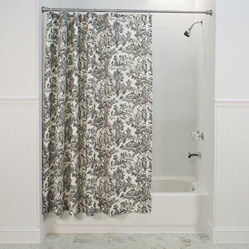 Victoria Park Toile Bathroom Shower Curtain Black Free Shipping
