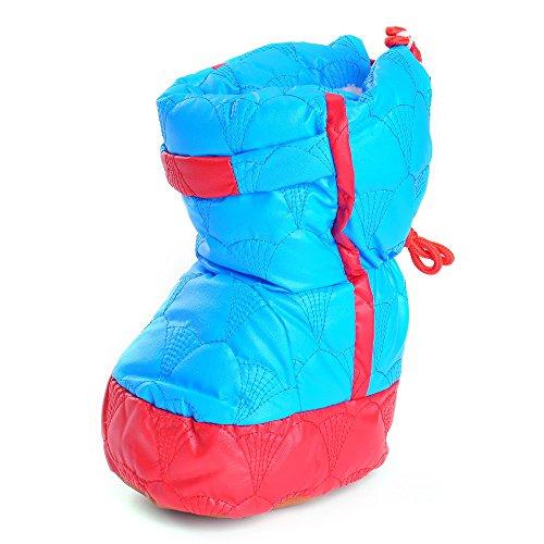 Bañador de Niños de cuero high-top bebé de piel de invierno botas de nieve amarillo amarillo Talla:18-24 meses Azul