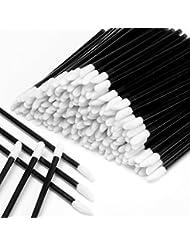 600PCS Disposable Lipstick Applicators Wands Makeup Applicators Brushes Lipgloss Applicators Tester Wands ECBASKET Disposable Lip Brushes Tool Kits Black