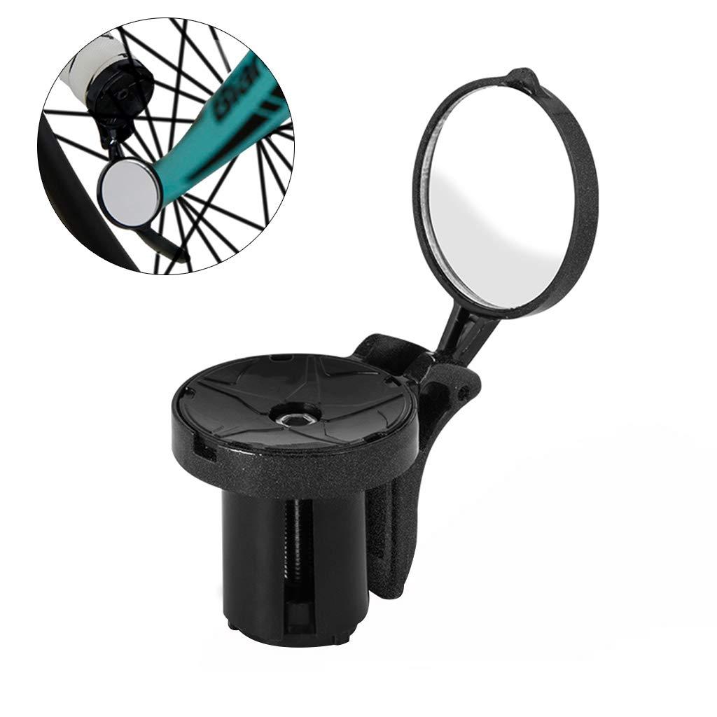Rennrad Drop Bar R/ückspiegel Ausstattung Einstellbarer reflektierender Sicherheitsspiegel Junlinto