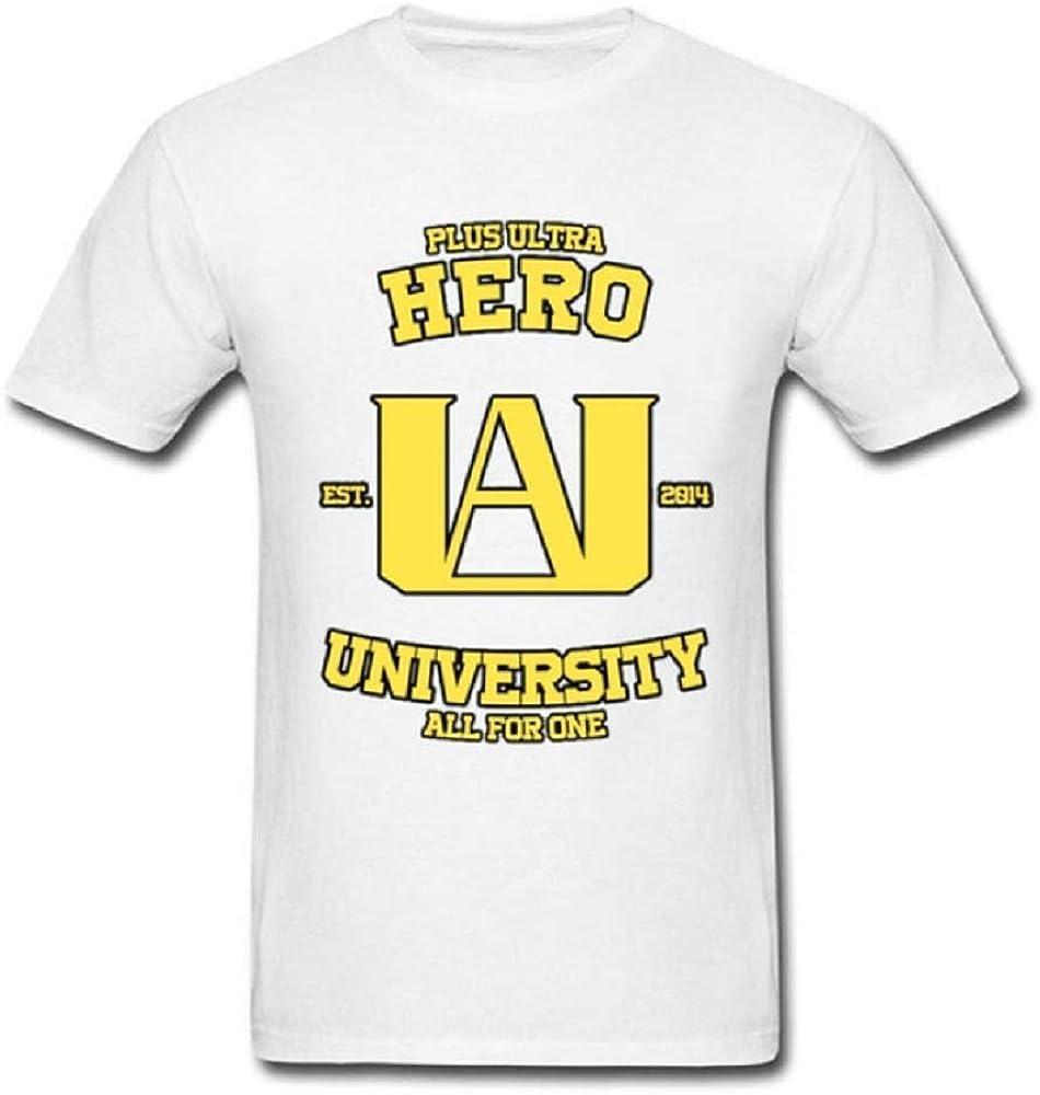 My Hero Academia UA University - Camiseta de Manga Corta, diseño de Boku No Hero Plus - Blanco - Large: Amazon.es: Ropa y accesorios