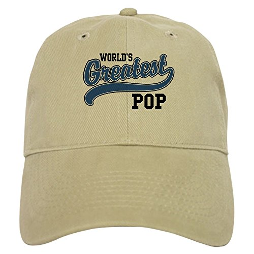 Greatest Pop (CafePress - World's Greatest Pop Cap - Baseball Cap with Adjustable Closure, Unique Printed Baseball Hat)
