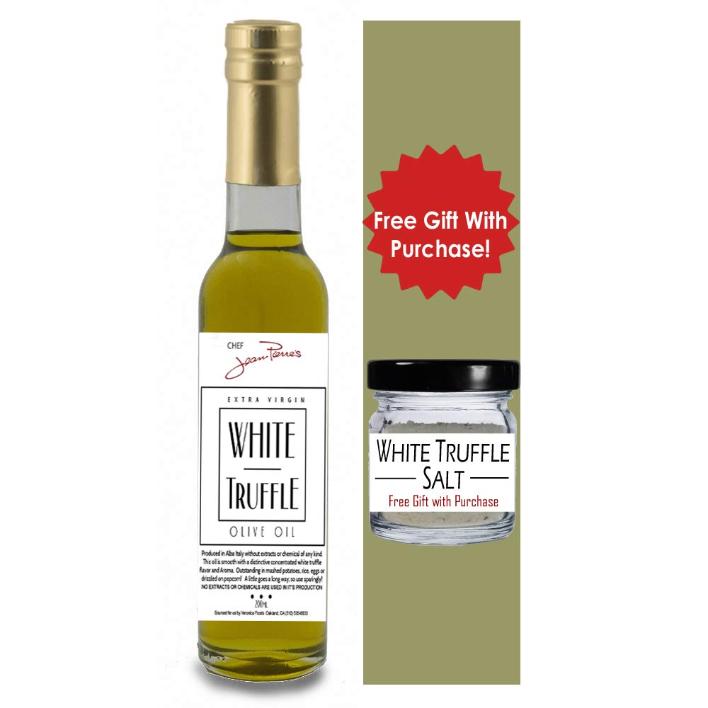 White Truffle Oil SUPER CONCENTRATED 200ml (7oz) 100% Natural NO ARTIFICIAL ANYTHING with a Gift of White Truffle Salt