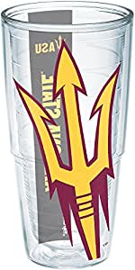 Tervis 1192741 Arizona State University Colossal Wrap Individual Tumbler, 24 oz, Clear