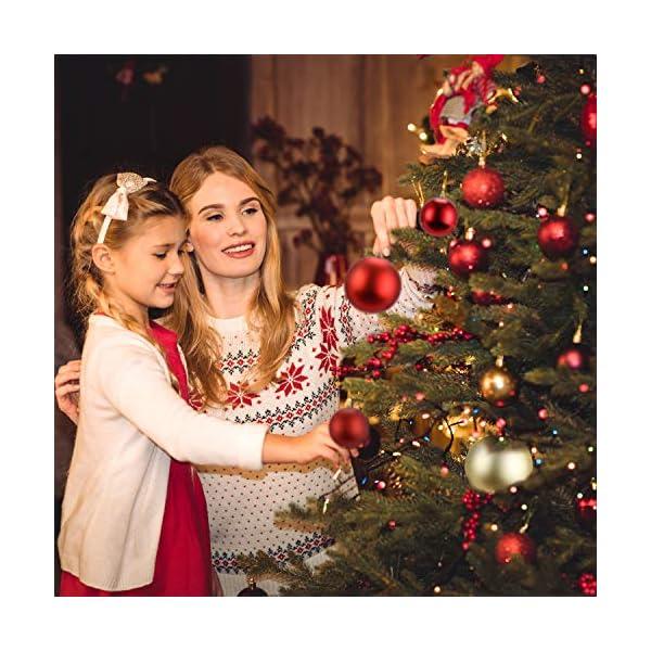 LessMo Palle di Natale (Rosso, 8cm) 6 spesavip