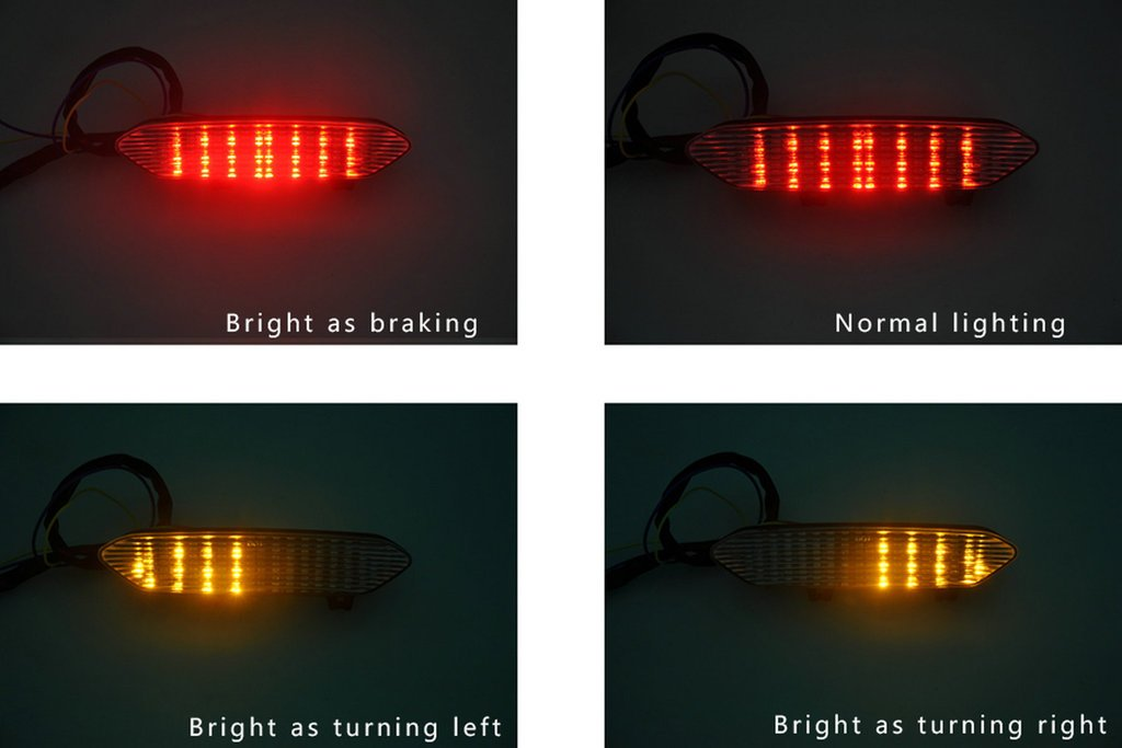Sunny New Motorcycle Integrated Brake Tail Light Taillight For Yamaha YZF R1 2002 2003 02 03