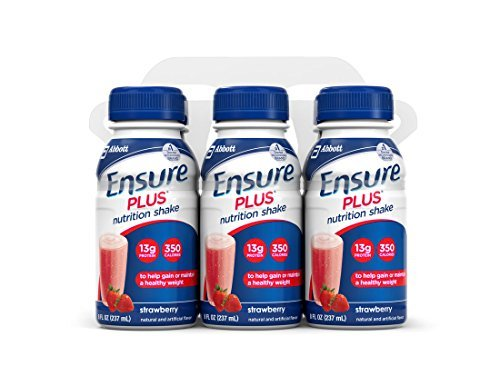 Ensure Supplements Nutritional (Abbott 57269 Ensure Plus Strawberry Nutritional Supplement-24/Case)