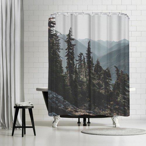 "North Cascades National Forest USA Shower Curtain by Luke Gram, 74"" H x 71"" W x 0.1"" D"